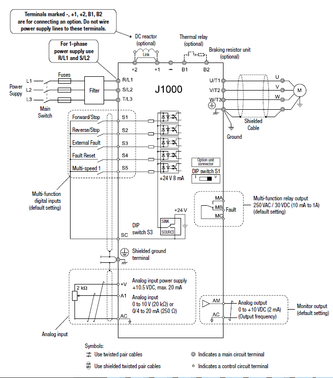 J1000 Connection Diagram